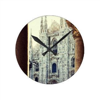 Duomo of Milan Round Clock