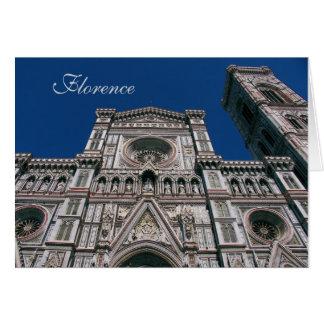 Duomo, or Santa maria del fiore, Florence, Italy Card