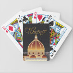 "Duomo Playing Cards<br><div class=""desc"">DUOMO  A night time graphic depiction of the flood-lit dome of Santa Maria del Fiore in Florence,  Italy.</div>"