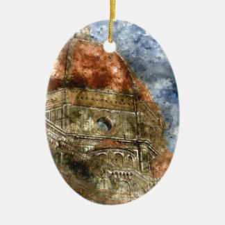 Duomo Santa Maria Del Fiore and Campanile Ceramic Ornament