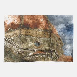 Duomo Santa Maria Del Fiore and Campanile Hand Towel