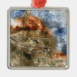 Duomo Santa Maria Del Fiore and Campanile Metal Ornament
