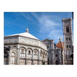 Duomo y Baptistry, postal de Florencia