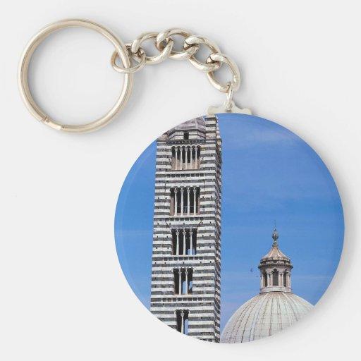 Duomo y cúpula del tejado, Siena, Italia Llavero Personalizado