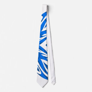 Duotone Tribal Tie Blue