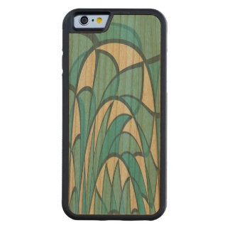 Duotone waves carved cherry iPhone 6 bumper case