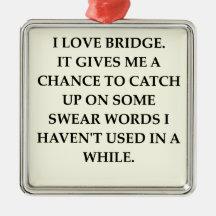 dup;icate bridge christmas tree ornaments