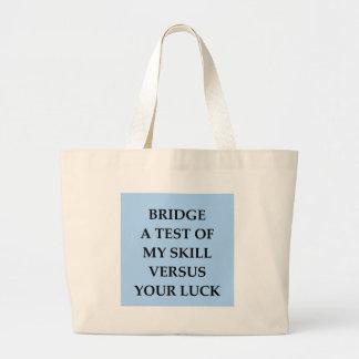 dup;icate bridge large tote bag