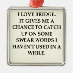 dup;icate bridge square metal christmas ornament