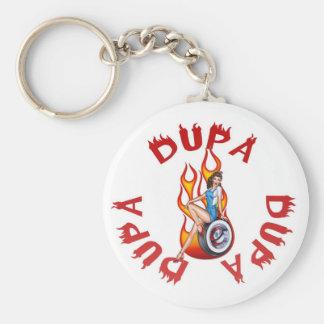 Dupa Flaming Hotrod logo keychain