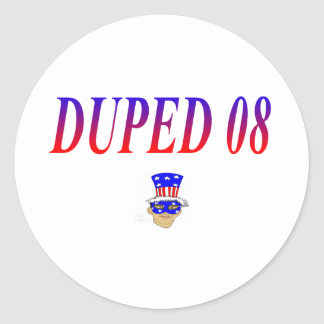 duped 08 classic round sticker
