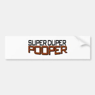 Duper estupendo Pooper Etiqueta De Parachoque