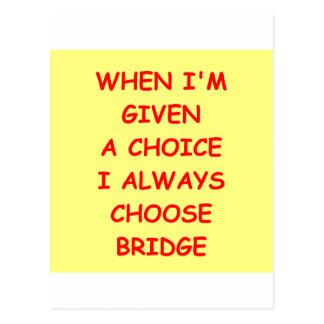 dupl[cate bridge postcard