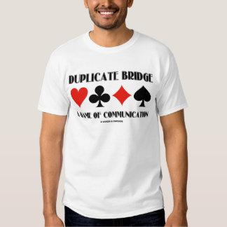 Duplicate Bridge A Game Of Communication Shirt