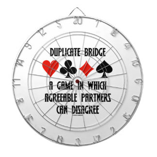 Duplicate Bridge A Game Which Agreeable Partners Dartboard