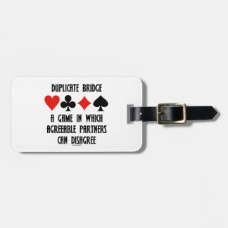 Duplicate Bridge A Game Which Agreeable Partners Luggage Tags