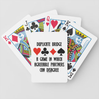 Duplicate Bridge A Game Which Agreeable Partners Bicycle Playing Cards