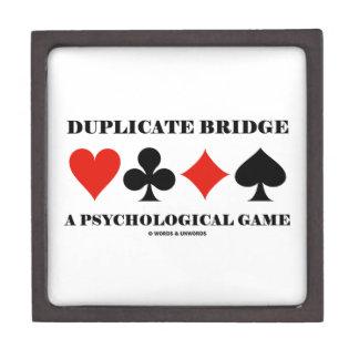 Duplicate Bridge A Psychological Game Jewelry Box
