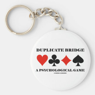 Duplicate Bridge A Psychological Game Keychain