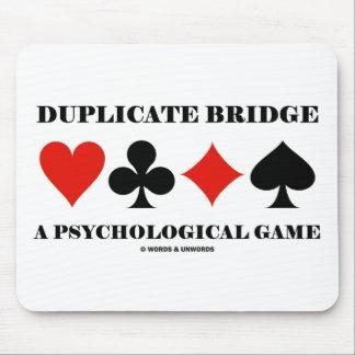 Duplicate Bridge A Psychological Game Mouse Pad
