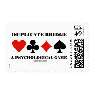 Duplicate Bridge A Psychological Game Postage