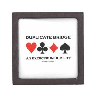 Duplicate Bridge An Exercise In Humility (Humor) Keepsake Box