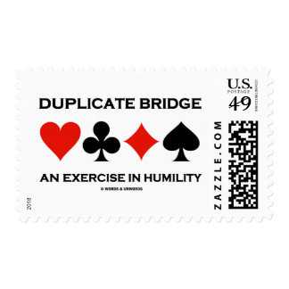Duplicate Bridge An Exercise In Humility (Humor) Postage Stamp