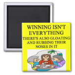 duplicate bridge and game players joke 2 inch square magnet