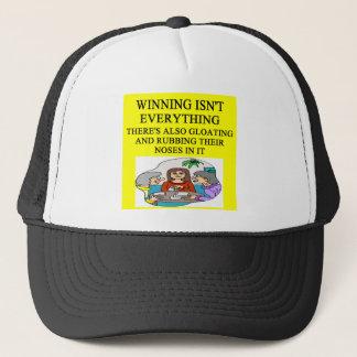 duplicate bridge and game players joke trucker hat