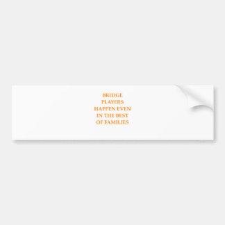 duplicate bridge bumper sticker