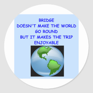 duplicate bridge classic round sticker
