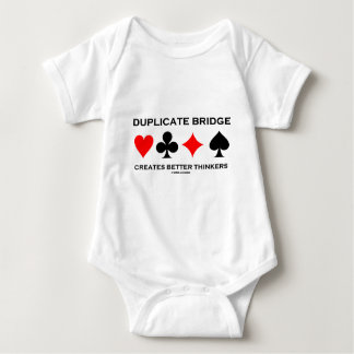 Duplicate Bridge Creates Better Thinkers Baby Bodysuit