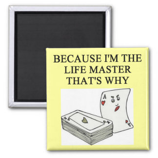 duplicate bridge expert joke 2 inch square magnet