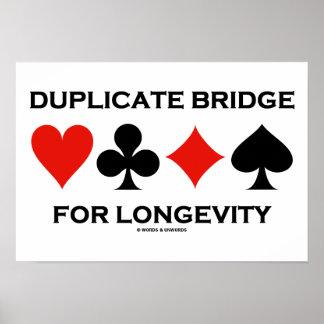 Duplicate Bridge For Longevity Poster