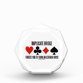 Duplicate Bridge Forces You To Think In Certain Acrylic Award
