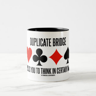 Duplicate Bridge Forces You To Think In Certain Two-Tone Coffee Mug