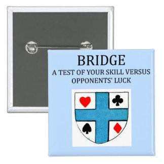 duplicate bridge game player 2 inch square button