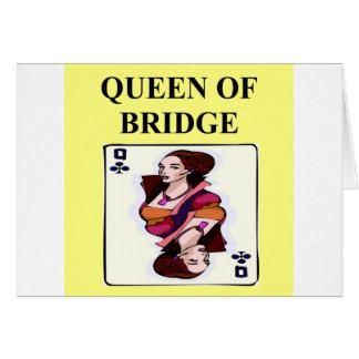 duplicate bridge game player greeting card