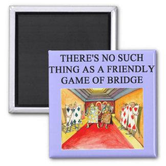 duplicate bridge game player 2 inch square magnet