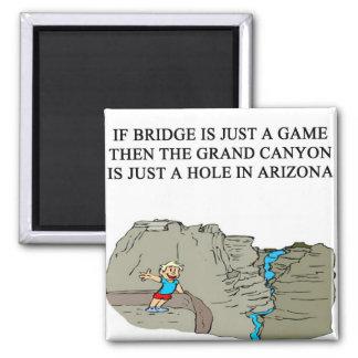 duplicate bridge game player fridge magnets