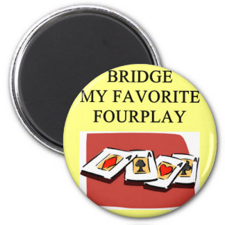 duplicate bridge game player 2 inch round magnet