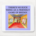 duplicate bridge game player mouse pad