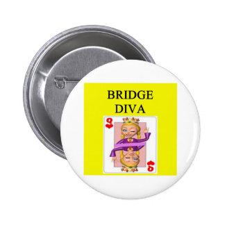 duplicate bridge game player pinback button