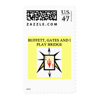 duplicate bridge game player postage
