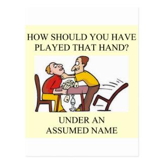 duplicate bridge game player post cards