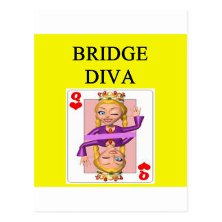 duplicate bridge game player postcard