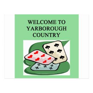 duplicate bridge game player yarborough postcard