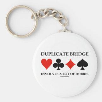 Duplicate Bridge Involves A Lot Of Hubris Basic Round Button Keychain