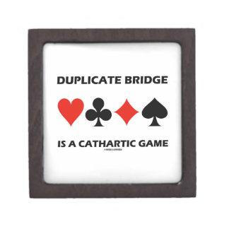Duplicate Bridge Is A Cathartic Game (Humor) Keepsake Box