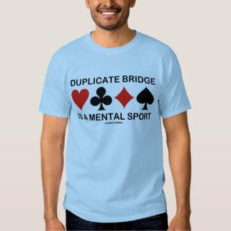Duplicate Bridge Is A Mental Sport (Card Suits) Tshirt